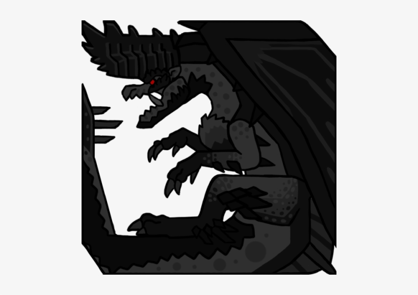 Mha2 Black Alatreon Icon Monster Hunter Alatreon Icon 500x500