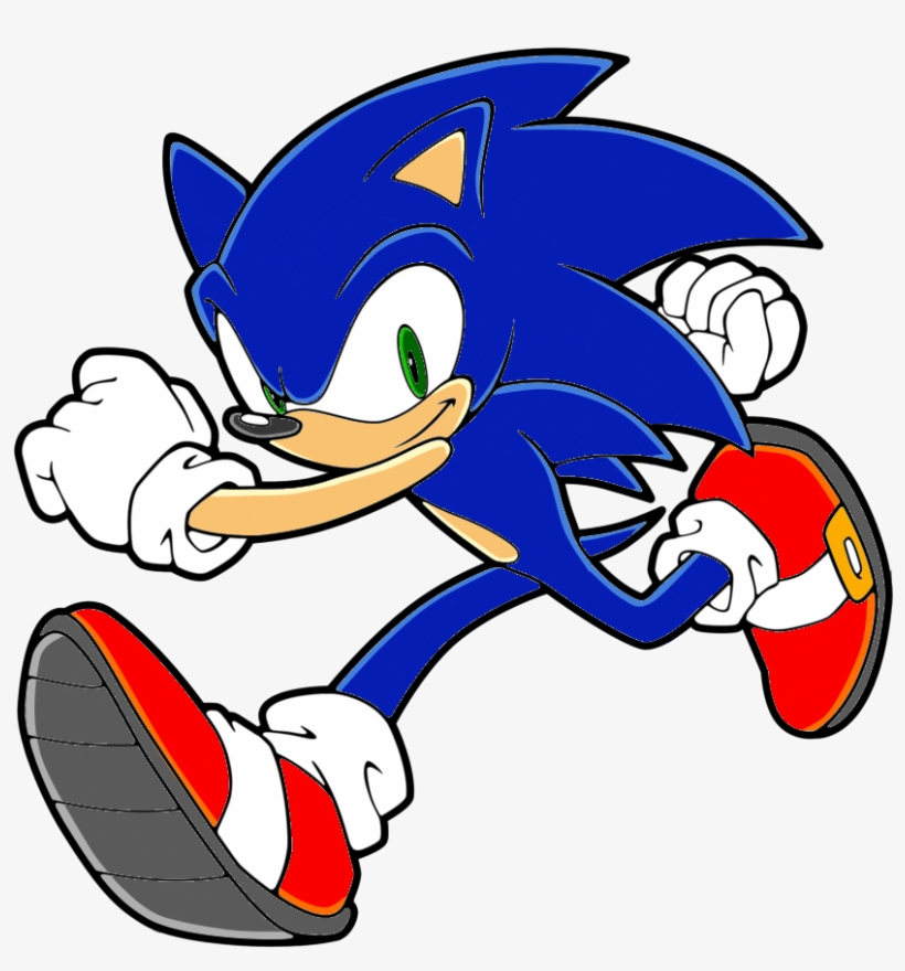 Sonic The Hedgehog Clipart Color Sonic Running Coloring Pages 900x952 Png Download Pngkit