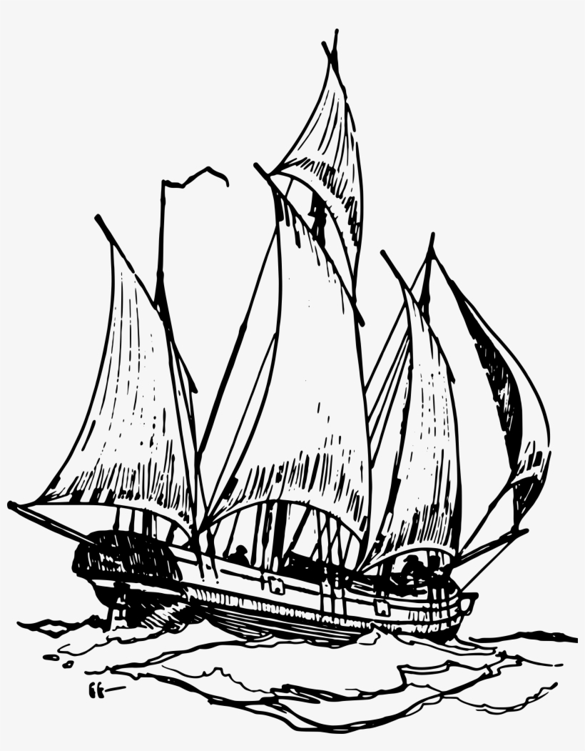 Simple Pirate Ship Drawing At Getdrawings Kapal Vector 1945x2400 Png Download Pngkit