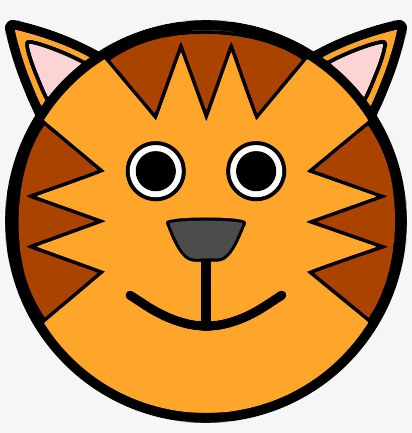 Circle Tigger Cat Face Clipart Png Image Download Cat Face