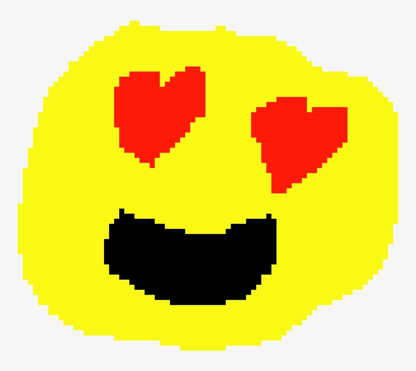 Heart Eyes Emoji Heart Eyes Emoji Pixel Art 930x740 Png