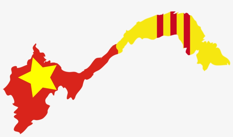 South Vietnam Flag Map 1024x553 Png Download Pngkit