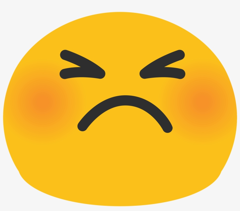 Open Cute Angry Face Emoji 2000x2000 Png Download Pngkit