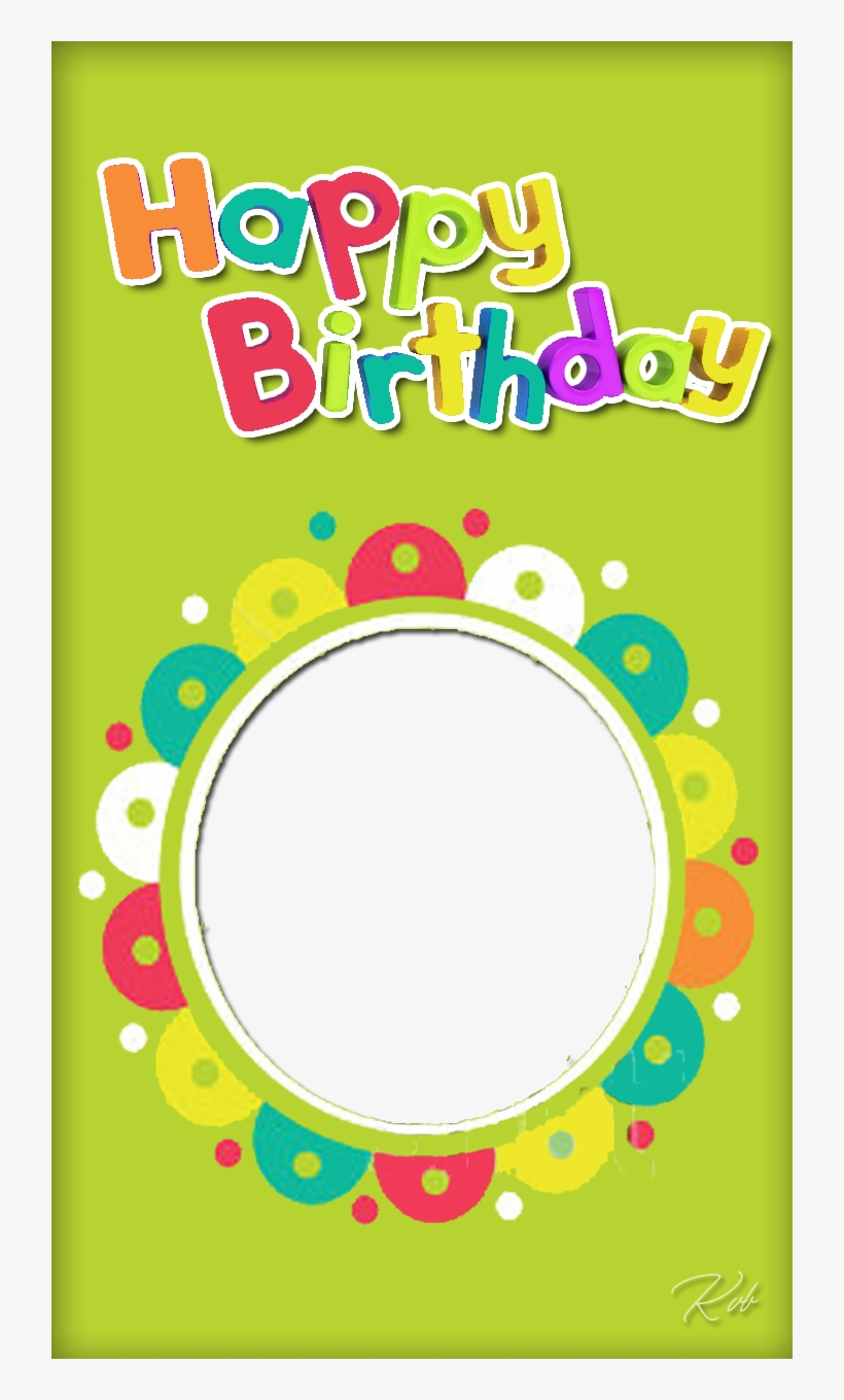 Multicolor Birthday Frame - Invitation Card Happy Birthday With