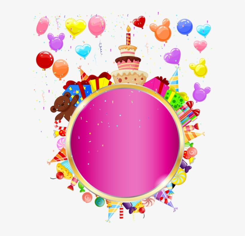 Happy Birthday Clipart Round - Happy Birthday Round Frame Png