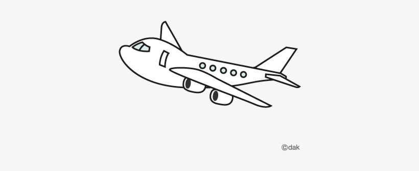 Plane Clipart Black And White Png Airplane Illustration Black