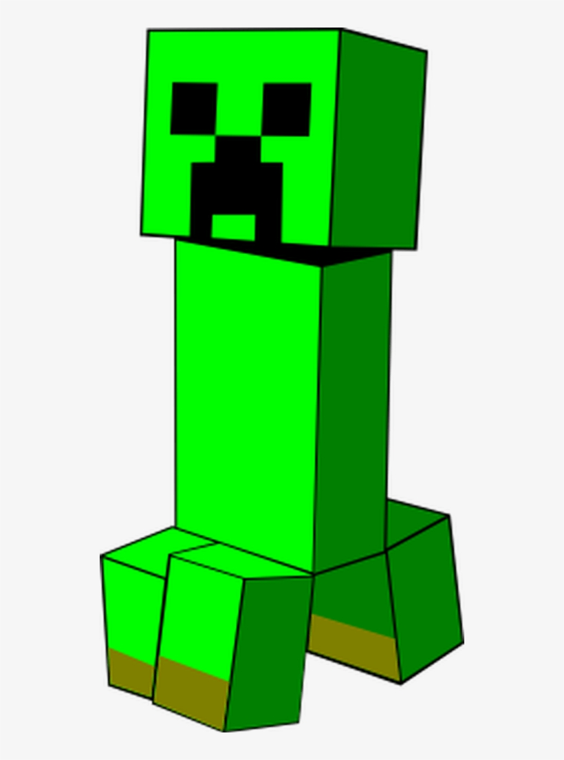 A Creeper From Minecraft Boom This Svg Will Blow Minecraft Creeper Clipart 530x1024 Png Download Pngkit