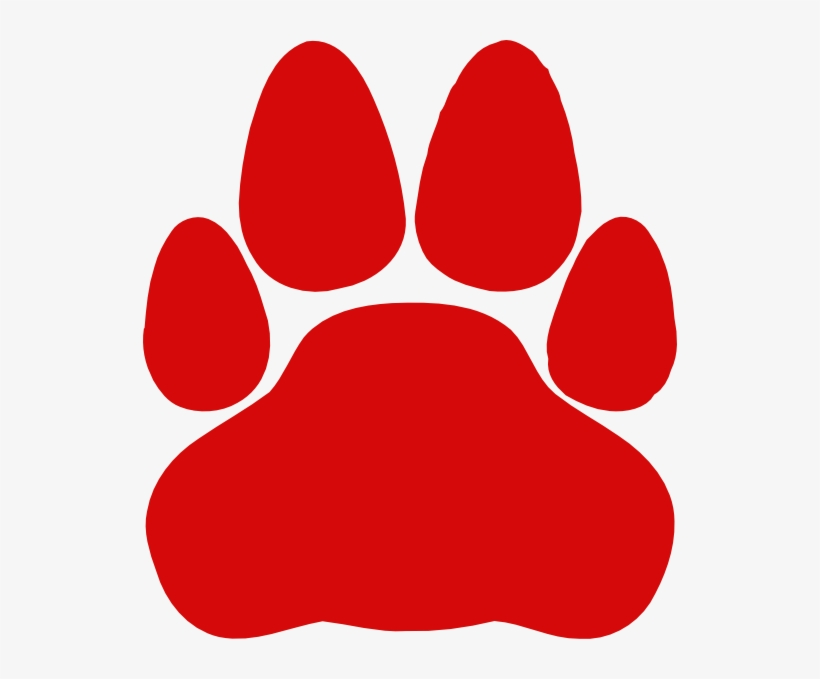 Red Paw Print Png - 534x599 PNG Download - PNGkit