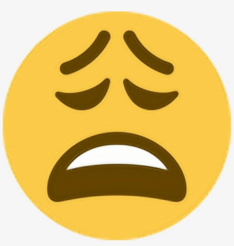 Tired Sleepy Upset Unhappy Ugh Emoji Emoticon Face Weary Emoji