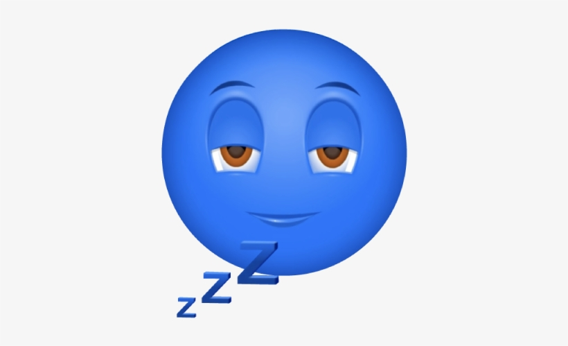 Tired, Can't Stay Awake - Tired Blue Emoji - 500x500 PNG Download