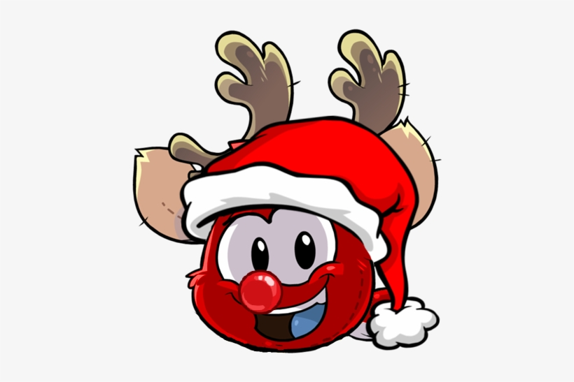 The Puffle Planet Reindeer 2 Red Nose