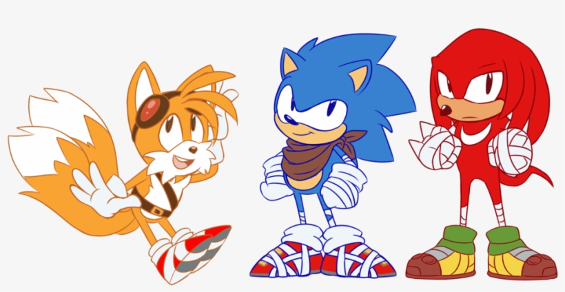 Sonic Mania With Sonic Boom Style Knuckles The Echidna 1024x529 Png Download Pngkit