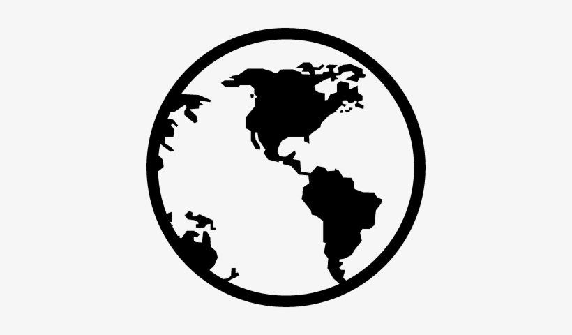 Earth Globe Vector - World Map Icon Transparent - 400x400