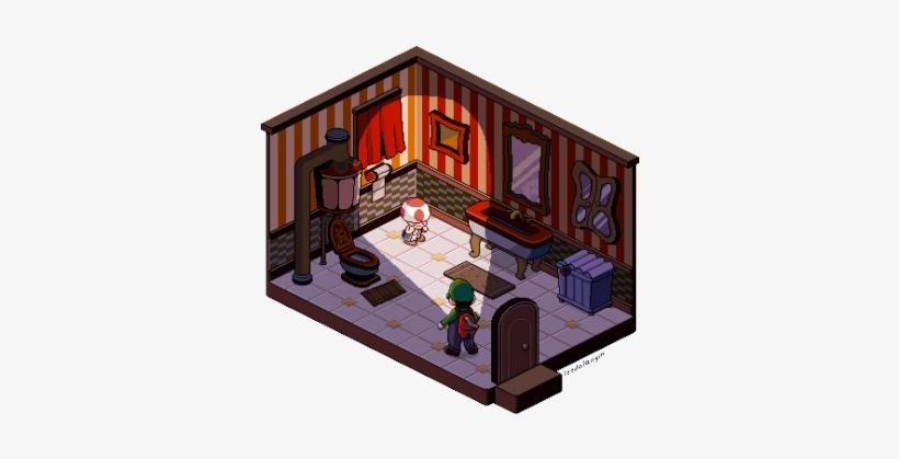 Luigis Mansion Isometric Art Luigis Mansion Pixel Art