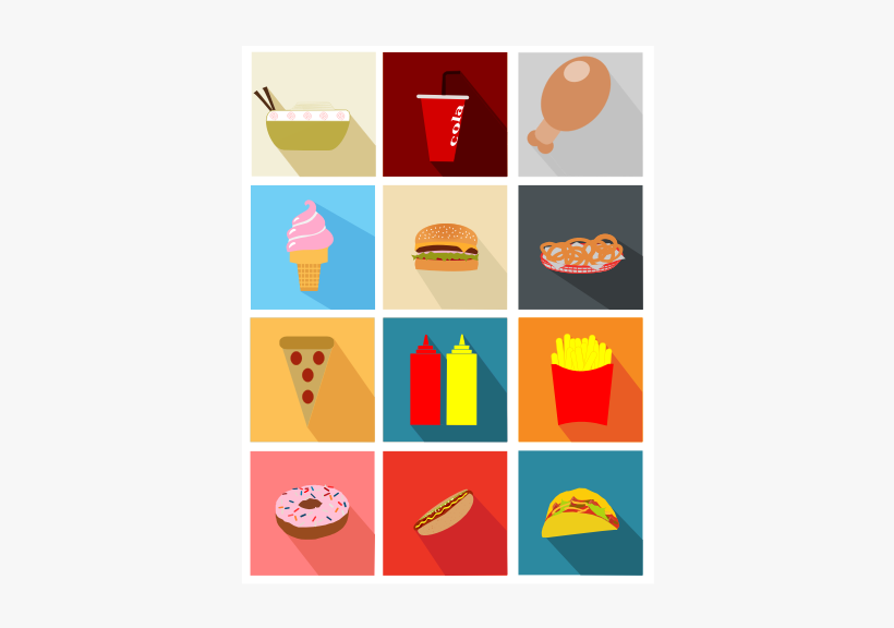 Fast Long Shadow Icons Medium Image Png Fast Food Minimalist Icons 566x800 Png Download Pngkit