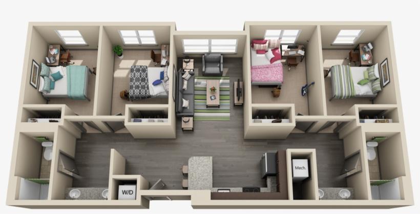 4 Bedroom Apartment University Flats Uk Transparent Png