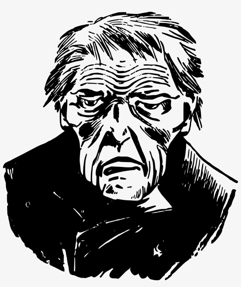 Sad man drawing at getdrawings sad old man png