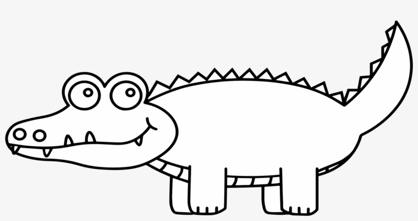 Alligators Crocodile Clip Drawing Cartoon - Black And ... - photo#11