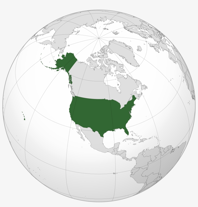 World Map United States Location Of The In - Estados Unidos En ...