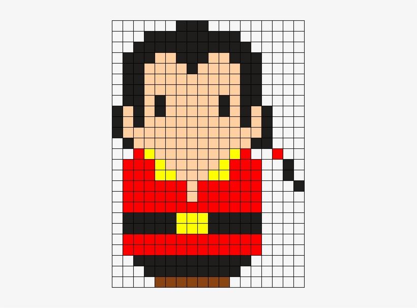 Gaston Perler Bead Pattern Bead Sprite Pixel Art Pingouin Facile 379x526 Png Download Pngkit
