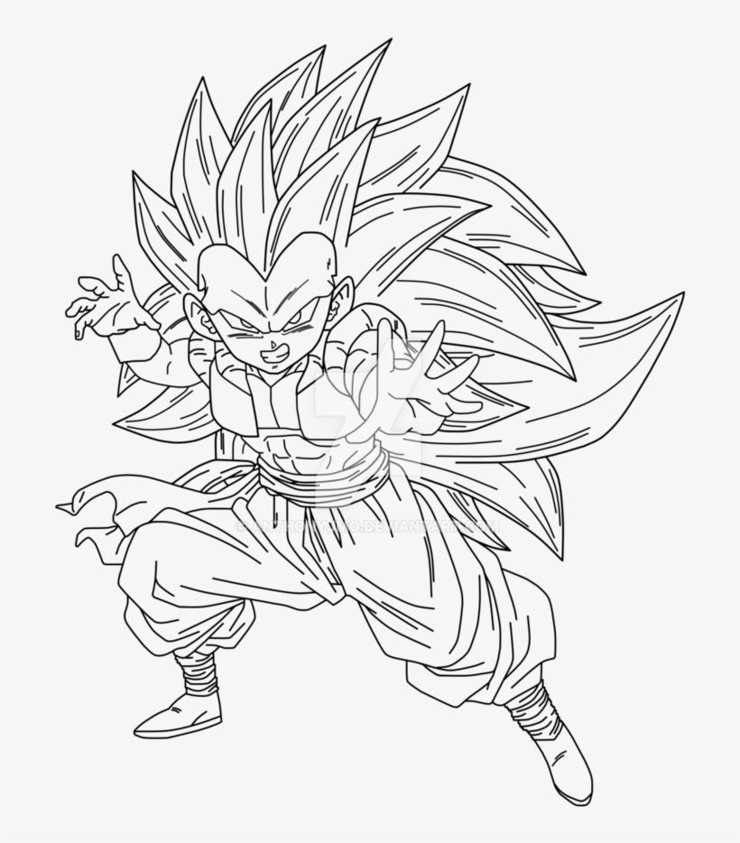 Banner Free Eternal Savior Super Saiyan Lineart By Goku Gt
