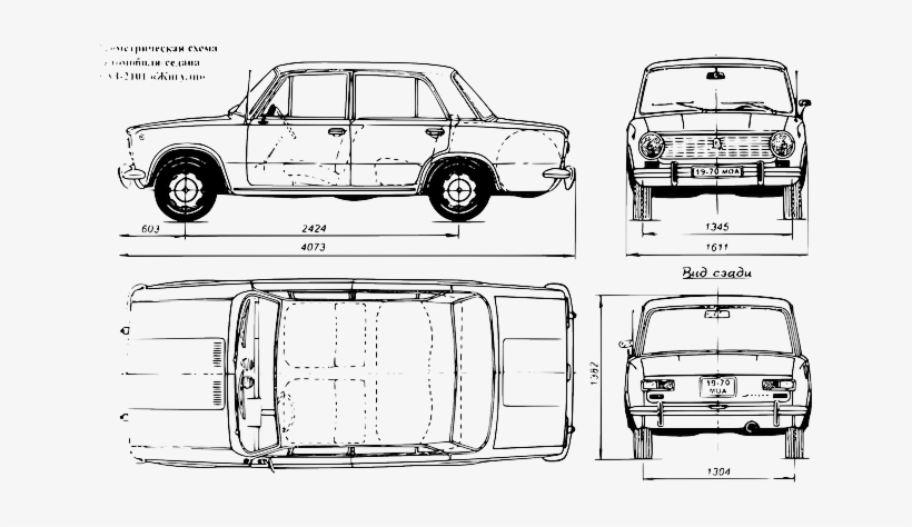 Car Transportation Blueprint Draw Vehicle Scale Drawing Of A