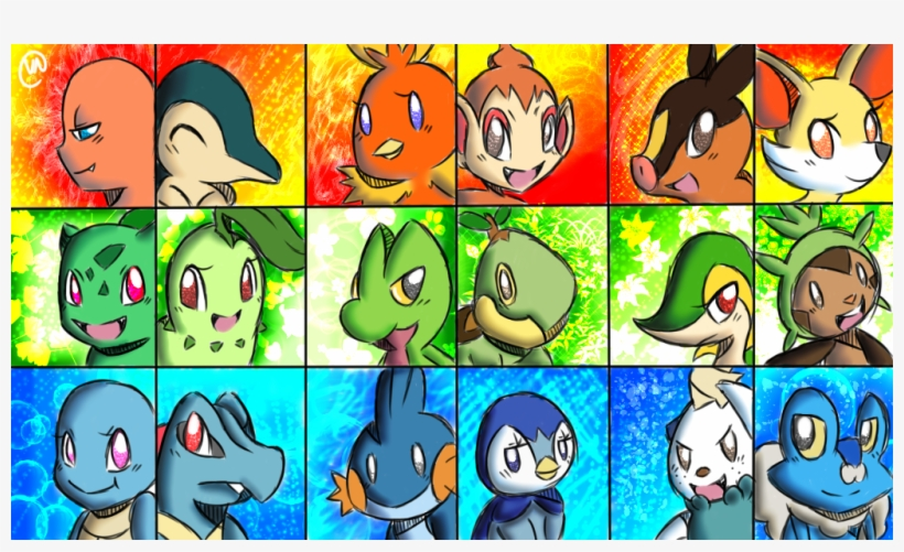 Png Pokemon Wallpaper All Starters 1024x576 Png Download Pngkit