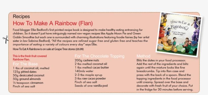 Rainbow Flan Eat A Rainbow Magical Raw Vegan Recipes For