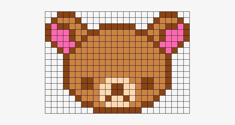 Korilakkuma Perler Bead Pattern Bead Sprite Pixel Art