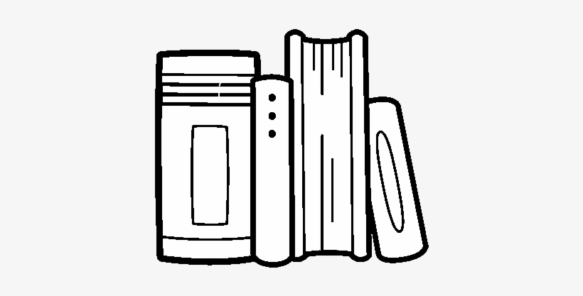 School Books Coloring Page Dibujos De Libros Kawaii 600x470 Png