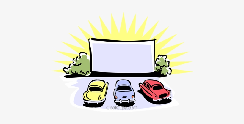 Drive In Movie Theatre Royalty Free Vector Clip Art Drive In Movie Cartoon 480x338 Png Download Pngkit