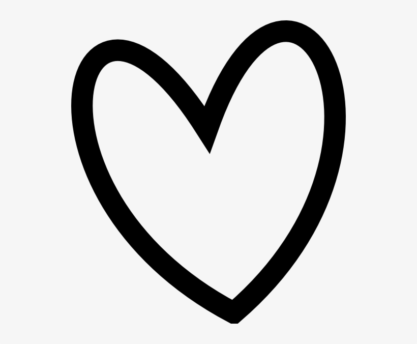 Black Heart Outlines - Heart Clipart Black And White ...