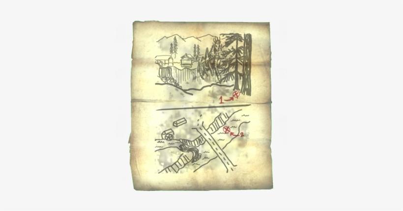 Treasuremapviii - Treasure Map Skyrim - 350x350 PNG Download ...