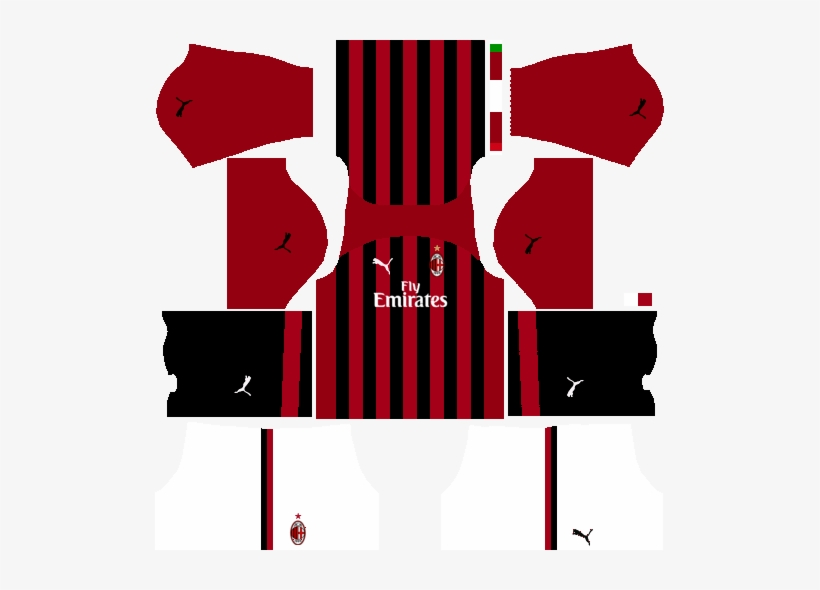 Puma Ac Milan Dls Fts Fantasy Kit Kits Ac Milan 2019 509x510 Png Download Pngkit