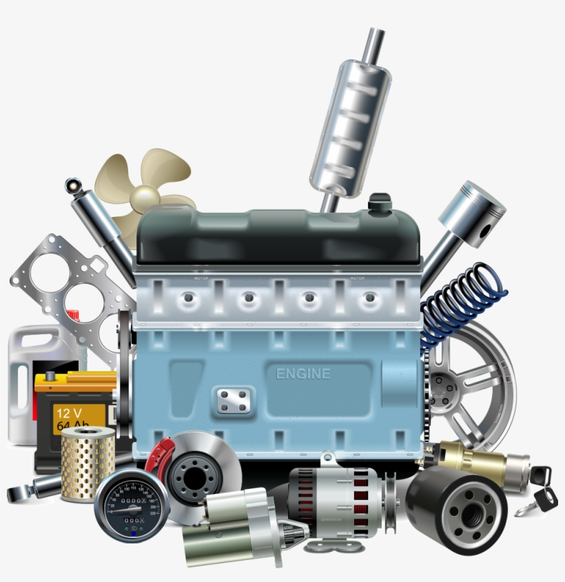 Parts Car Engine And Parts Vector 1000x982 Png Download Pngkit