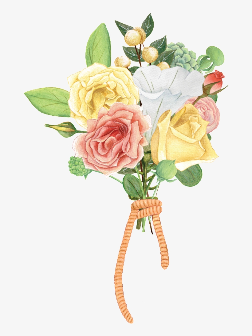 Hand Painted Beautiful Flower Bouquet Hd Png Flower 1024x1024