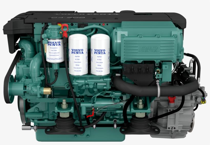 Volvo Penta D4 260 - 2324x1200 Png Download