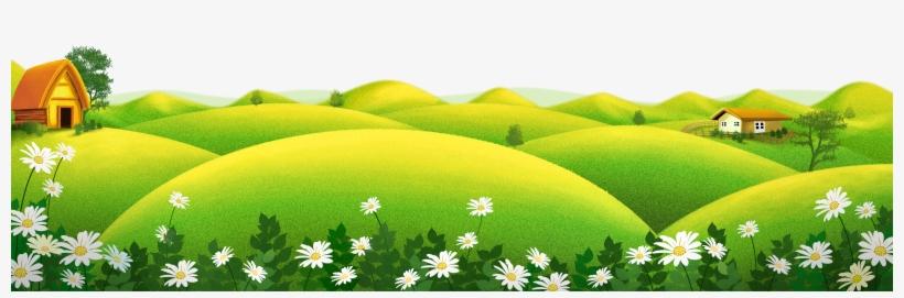 Cartoon Poster Illustration - Garden Cartoon Grass Png