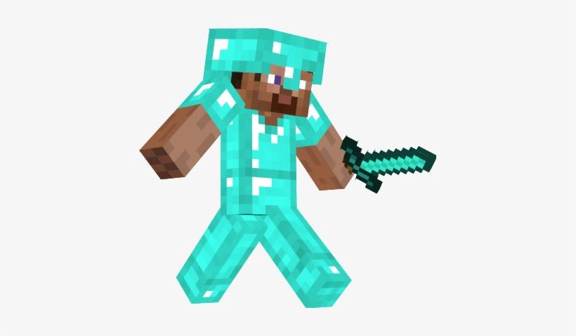 Steve With Diamond Armor Minecraft Steve With Diamond Sword