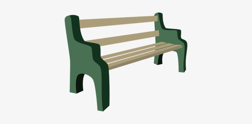Bench At 1350 N Park Bench Drawing Png 400x323 Png Download