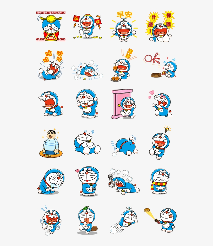 Sticker Line Doraemon Animated Stickers Line2me In - 哆 啦 A