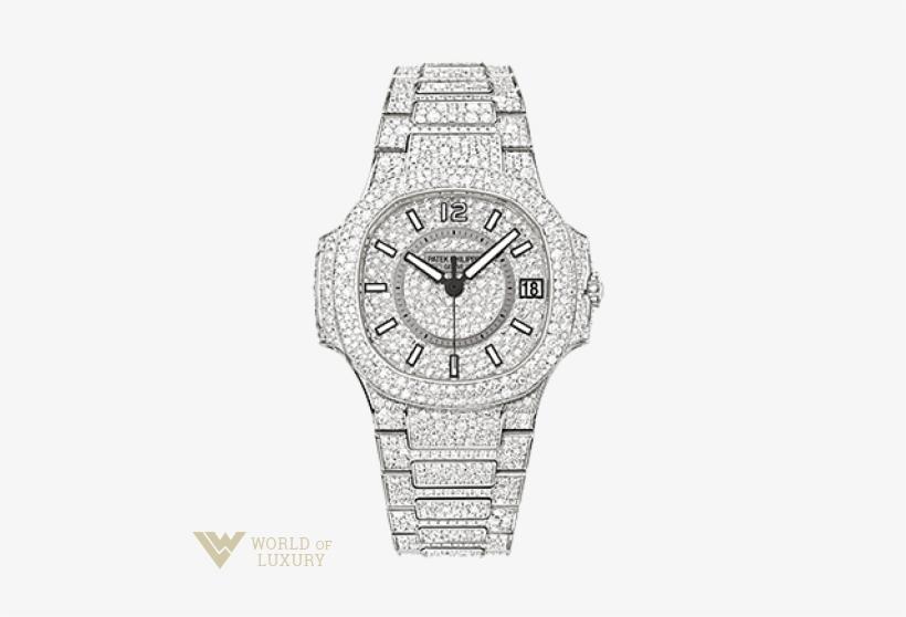 bf47350f591 Patek Philippe Nautilus Diamond Paved 18k White Gold - Patek Philippe 7021  1g 001