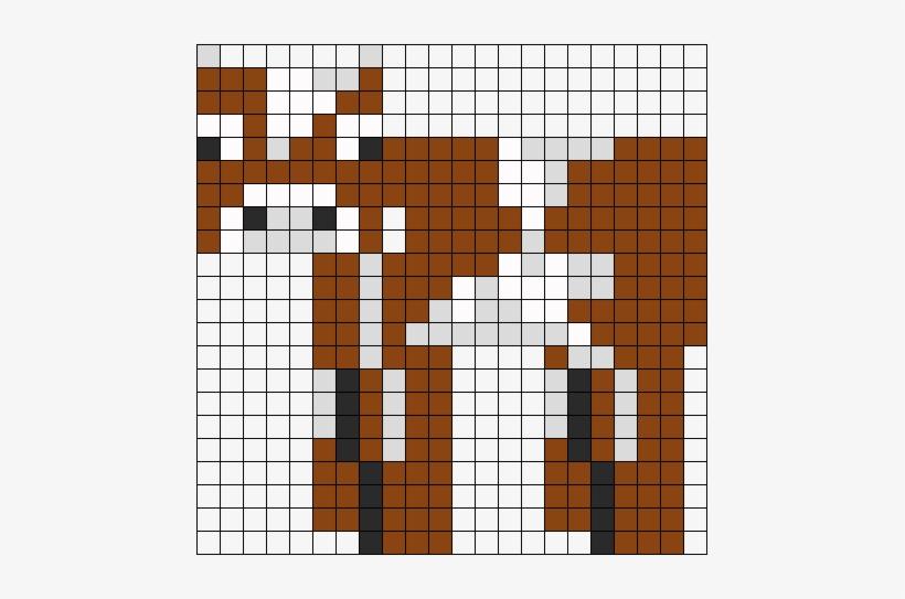 Minecraft Cow Perler Bead Pattern / Bead Sprite - Minecraft