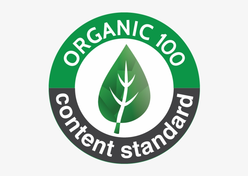 Global Organic Textile Standard - Organic 100 Content Standard Logo -  600x600 PNG Download - PNGkit