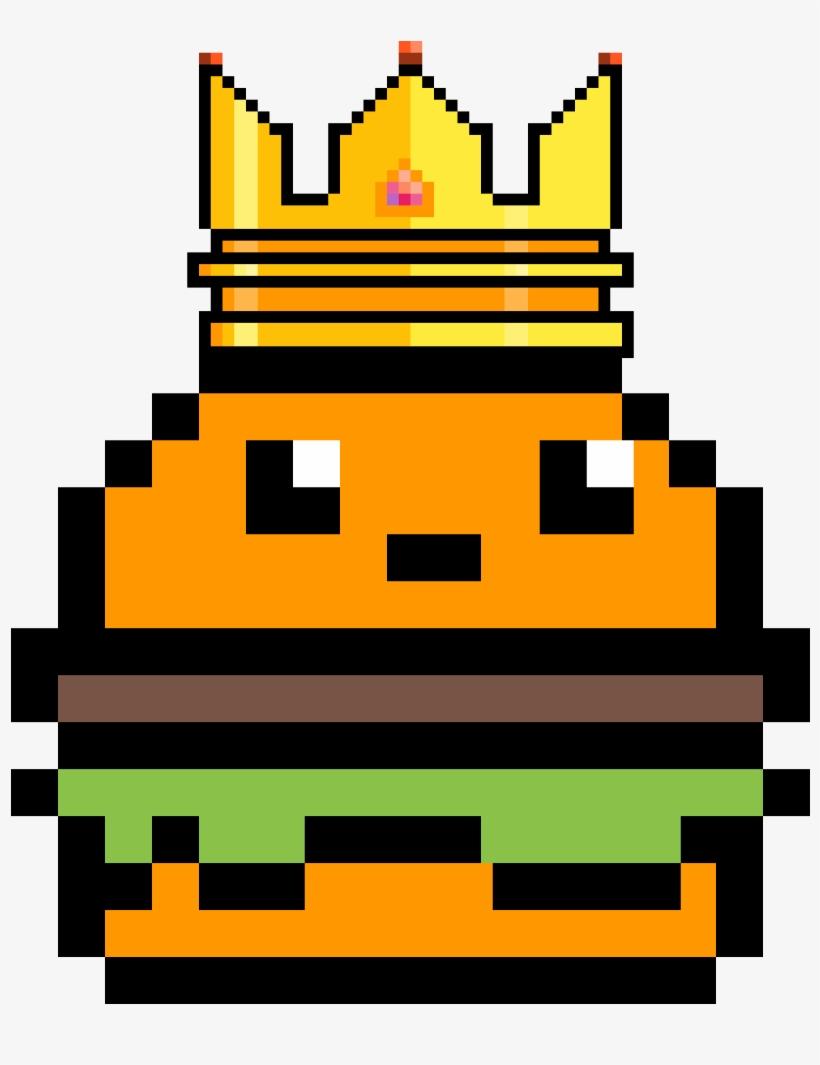 Burger King Video Game Pixel Art Easy 1200x1200 Png