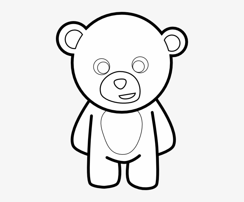 Teddy Bear Outline Clip Art At Vector Clip Art