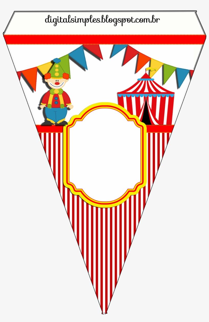 Kit De Personalizados Tema Circo Para Imprimir Bandeirolas De