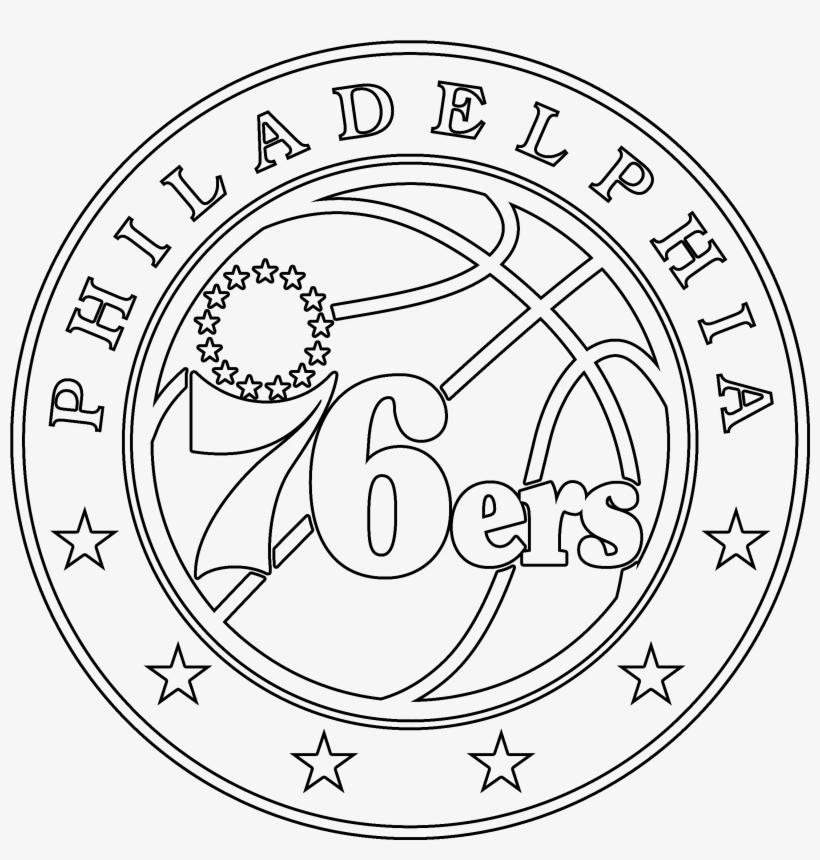 Philadelphia 76ers Logo Stencil Philadelphia 76ers Logo Drawing 2400x2400 Png Download Pngkit
