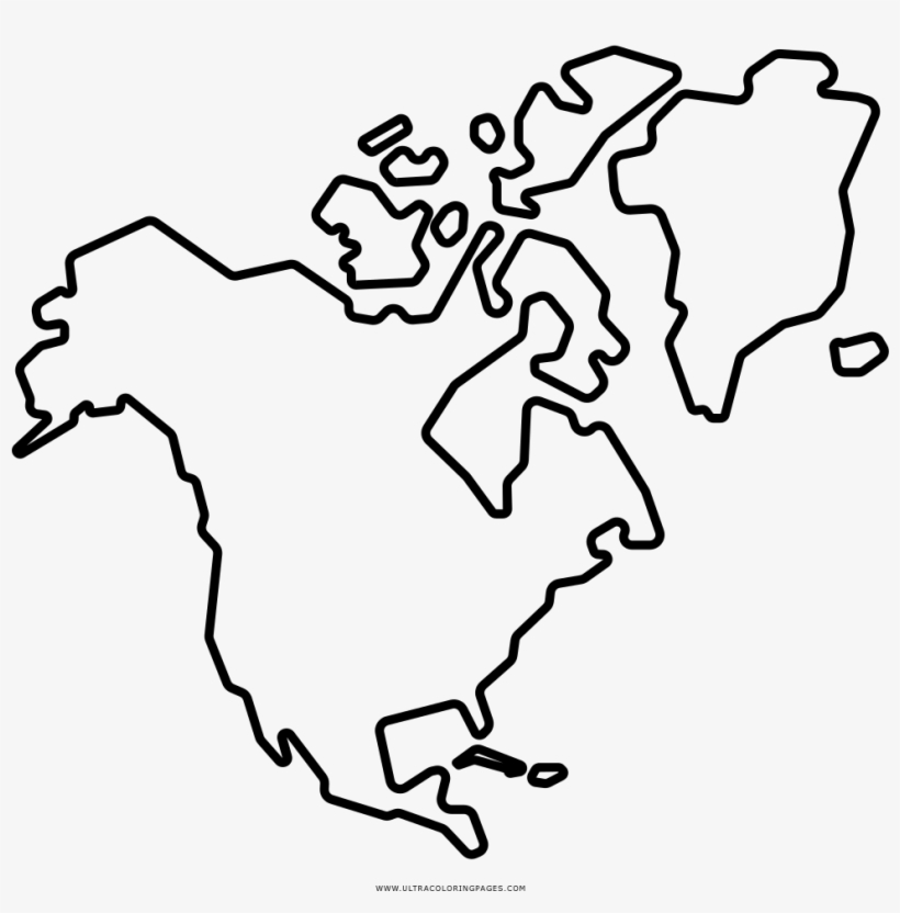 North America Coloring Page Ultra Pages