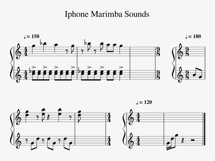 Noten Weihnachtslieder Klavier.Iphone Marimba Sounds Sheet Music For Percussion Musescore